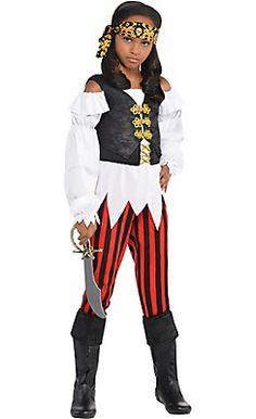 Girls Pretty Scoundrel Pirate Costume
