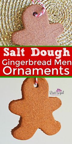 Gingerbread men are a favorite at Christmas time! Make these classic ornaments with the kids using salt dough. This easy Gingerbread Man Decorations, Gingerbread Man Crafts, Gingerbread Ornaments, Gingerbread Salt Dough, Christmas Gingerbread Men, Holiday Decorations, Easy Christmas Ornaments, Simple Christmas, Kids Christmas