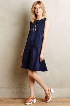 Poplin Dropwaist Dress