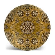 Bohemian Floral Lace Print Melamine Plate, in assorted colors
