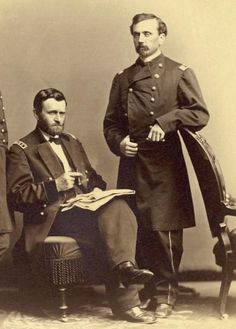 Commander of the Federal Army, Ulysses Grant and Colonel Orville Babcock