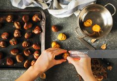 Discover the best and easiest ways to peel chestnuts by roasting and steaming them and the common ways they are used in recipes. Breakfast Porridge, Savory Breakfast, Roasted Chestnuts, Italian Dishes, Easy Cooking, Health And Wellness, Good Food, Fun Food, Food To Make