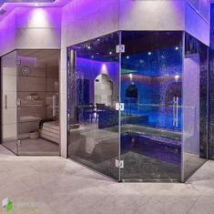 Luxury sauna & steam room frameless glass installation 💎 Sauna Steam Room, Steam Bath, Glass Installation, Saunas, Bathtub, Rooms, Luxury, Standing Bath, Bedrooms