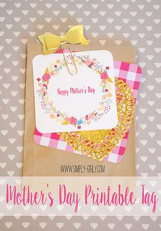 Mother's Day FREE Printable Gift Tag