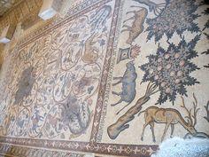 Faunal Mosaic at Madaba  View of faunal-themed mosaic at Madaba, Jordan. by Sarah Ferguson (2009)