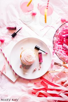 Throw the most Instagram-worthy pink party. Bring out the pink cupcakes, confetti, streamers, and lip gloss! | Mary Kay  http://www.marykay.com/snahass-nalley or call 352-201-2498