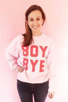 Boy, Bye Adult Sweatshirt in Peony
