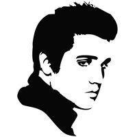 Elvis Silhouette Details Zu Wandtattoo Uhr Elvis Presley