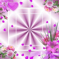 Heart - flowers frame