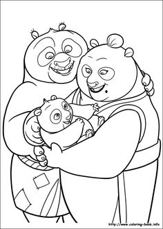 Kung Fu Panda 2 Coloring Picture