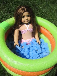 American Girl Doll Sized Swimming Pool by InspiredByMarcella