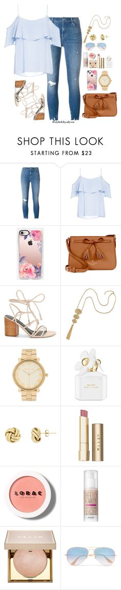 Date Night Outfit 02 by alyssanicolesmith on Polyvore featuring BB Dakota, J Brand, Rebecca Minkoff, Kate Spade, Michael Kors, Casetify, Ray-Ban, Stila, Benefit and LORAC