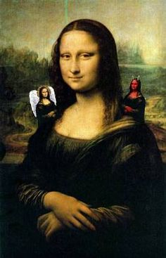 Mona Lisa is of two minds