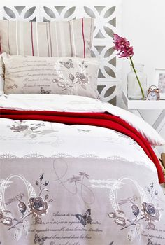 Freshen up your bedroom with one of the season's most inspiring trends: stripes and prints. Comforters, Stripes, Trends, Blanket, Bedroom, Inspiration, Home, Decor, Creature Comforts