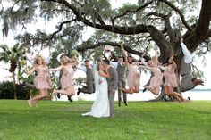 Such a fun idea for a wedding photo! Read more about this destination wedding on our blog! Photo courtesy of Tab McCausland