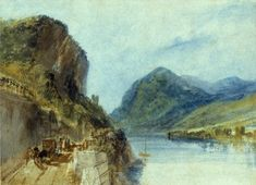 Joseph Mallord William Turner 'The Drachenfels', 1817 - Graphite, watercolour, gouache and scraping out on paper -  Dimensions Support: 210 x 290 mm -  © Courtauld Institute Gallery, London
