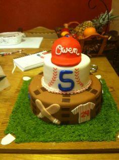 Adorable baseball cake