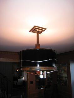 Patinated steel, stainless steel & painted steel pendant lamp badman.com   Badman Design   Grand Forks, ND