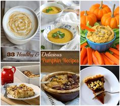 33 Healthy and Delicious Pumpkin Recipes. Includes gluten free and vegan options!
