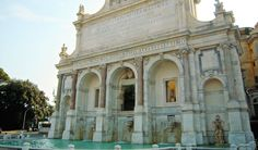 The Fontana dell'Aqua Paola starred in the first scene of the film 'The Great Beauty' by Paolo Sorrentino. Commissioned to Baroque architect Giovanni Fontana, the fountain is a terminal of the Trojan aqueduct ~ Located on the Janiculum hill at the end of Via Garibaldi.