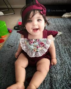 Pin on baby Cute Little Baby Girl, Cute Baby Girl Images, Cute Kids Pics, Cute Baby Pictures, Little Babies, Baby Love, Cute Babies, Baby Kids, Precious Children