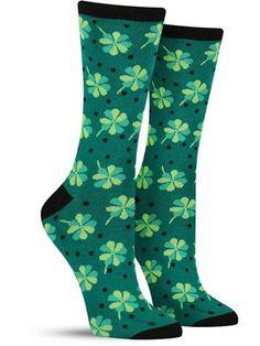 Shamrock Lacrosse Lucky Irish Leaf Compression Socks for Men /& Women High Socks Below Knee High