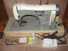 VINTAGE NECCHI SUPERNOVA AUTOMATIC SEWING MACHINE - MADE IN ITALY....wonderful machine...heavy and solid, sews like a dream, incredibly nice stitch.  Stay away from the Japanese made ones, the Italian manufactured are the best.