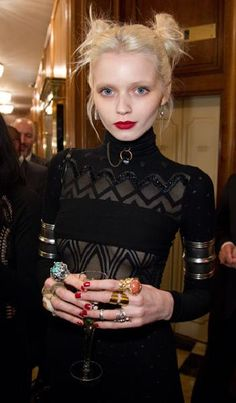 Abbey Lee Kershaw. Mad about the profuse jewellery.