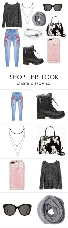 """""""shhh"""" by inae-leigh on Polyvore featuring moda, Steve Madden, Kate Spade, Rebecca Minkoff, Gap, Gentle Monster e Pandora"""
