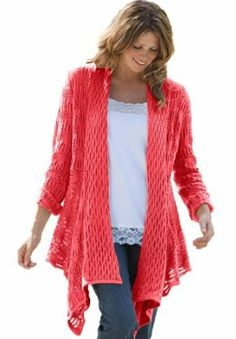 Woman Within Women's Plus Size Open Front Cardigan