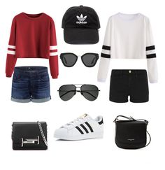 """""""Twin outfits"""" by alexia-m-richard on Polyvore featuring Frame, 3x1, adidas, Lancaster, Tod's, Yves Saint Laurent and Prada"""
