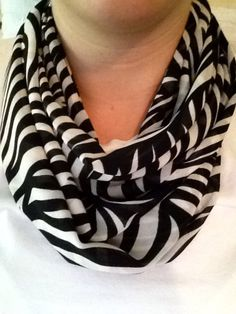 Zebra Print + My Obsession With Scarves= GIVE IT TO ME NOW!!!!!! :)