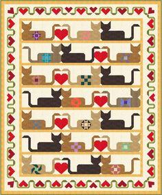 PatchKats by Denise Russart will be a BOM in 2015. Can you say kitty lovers?