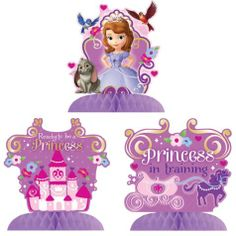 Sofia the First Centerpieces 3ct - Party City