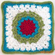 Amo la V Stitch: Square afgana Patrón Gratuito # Crochet, parte de la Moogly 2014 afgana Crochet un largo!