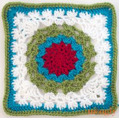 I Love the V Stitch: Free Afghan Square #15 Crochet Pattern, part of the Moogly 2014 Afghan Crochet a Long!