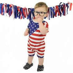"""Only 2 of The """"Patriot"""" romper remain in the shop. Still time to get them before 4th of July.  Red, white and blue, independence day, stars and stripes, patriotic, american flag, baby romper, toddler romper, baby jumper, toddler jumper, handmade romper, shop small, etsy shop."""