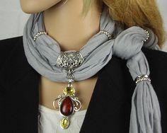 Scarf with Jewelry Jewelry Scarf Scarves by MyArtAndFashion, $23.99