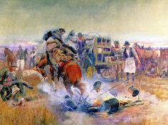 Bronc for Breakfast - Charles M Russell 1908 -WikiArt.org - the encyclopedia of painting