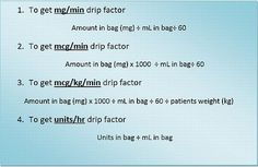 I have found an amazingly simple formula for calculating all types of IV drip rates.