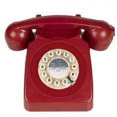 #téléphone #rétro 746  #Rouge #Red #Fleux #Home #Design