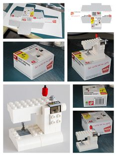 Lego Sewing Machine and Box