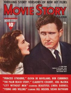 Spencer Tracy and Katherine Hepburn - Movie Story - February 1946