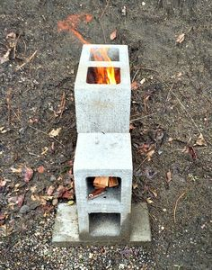 Build a rocket stove for an easy to use, clean burning cooking device. Here's how to build a concrete block rocket stove.