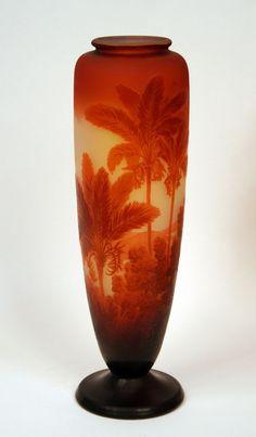 A Rio de Janeiro vase by Galle. Made in France Circa: 1910 Signature: Gallé