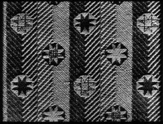 Woven furnishing fabric designed by Enid Marx for Utility furniture during the 1940's.