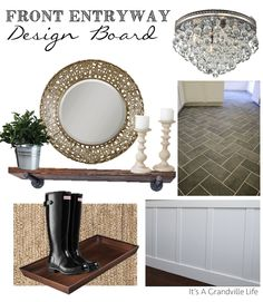 It's A Grandville Life : Front Entryway Design Board