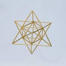 Small EGG OF LIFE, Merkaba, Tetrahedron Star of David 3 D Himmeli Hanging Brass Home Decor, perfect also as wedding decor.Star of David is its form, interesting that all 24 letters of Ancient language of Hebrew dra. Geometric Origami, Geometric Jewelry, Geometric Designs, Geometric Shapes, Egg Of Life, Toothpick Sculpture, Straw Crafts, Star Of David, Diy Projects To Try