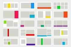colorblock album template for miller's lab or by sarahdobbins, $20.00