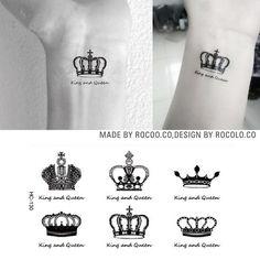 Супер Творческий Талии Ноги Макияж Королева Король Коронка алмазная Татуировки Водонепроницаемый Временные Татуировки Наклейки Для Мужчин Женщина HC1130